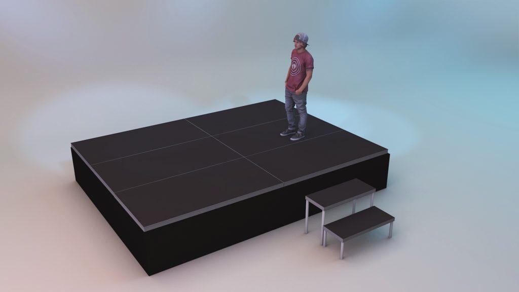 Сцена с раусом (юбкой) 3x4