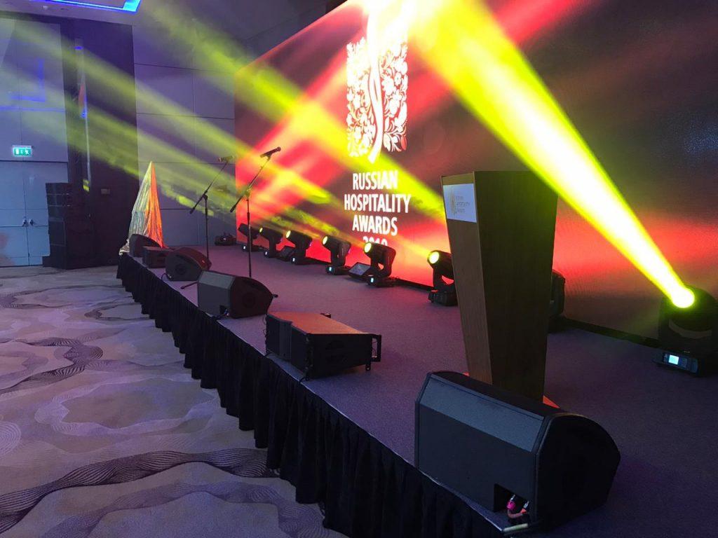 звук и свет для ежегодной гостиничной премии