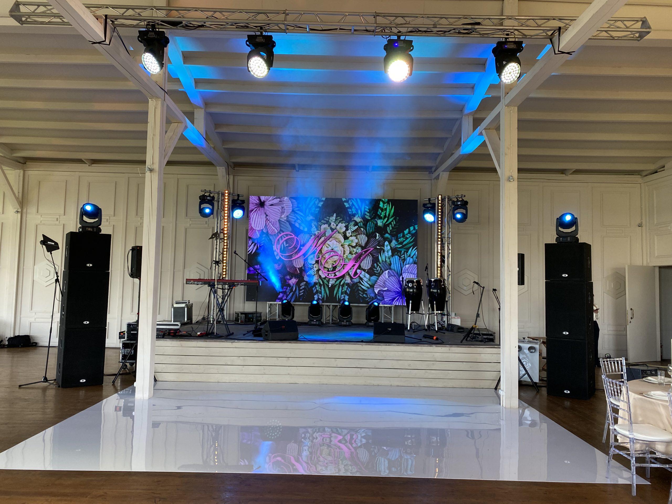 Свадьба в Сохо Кантри Клаб. Аренда светодиодного экрана, звука, света, бэклайна для праздника
